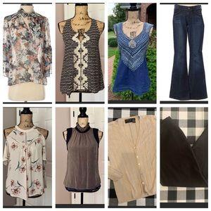 8-Piece Women's Clothing Bundle Lot Size S